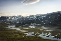 Krajobraz w Lapland, Szwecja Fotografia Stock