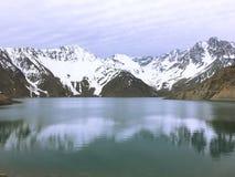 Krajobraz w Maipu okręgu w Santiago chile zdjęcie stock