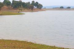Krajobraz w naturze, mahi tylna woda, banswara, Rajasthan, India obraz stock