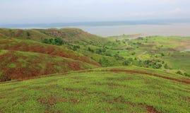 Krajobraz w naturze, mahi tylna woda, banswara, Rajasthan, India obraz royalty free