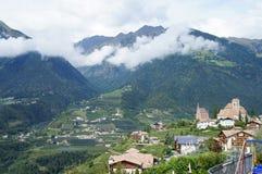 Krajobraz w Południowym Tyrol, Włochy Obraz Royalty Free