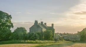 Krajobraz w podstrzyżenie kasztelu, północnym - Ireland fotografia stock