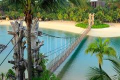 Krajobraz w sentosa, Singapur Obrazy Stock