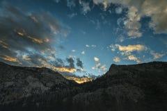 Krajobraz w sierra Nevada góry Zdjęcia Stock