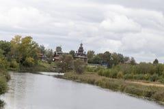 Krajobraz w suzdal, federacja rosyjska obrazy stock