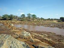 Krajobraz w Tsavo parku Fotografia Stock