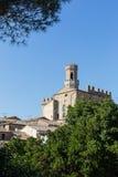 Krajobraz w Tuscany, kasztel Fotografia Stock