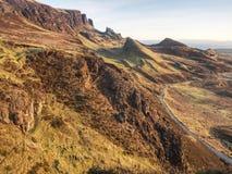 Krajobraz w wyspie Skye północny Szkocja Krajobrazowy widok fotografia royalty free