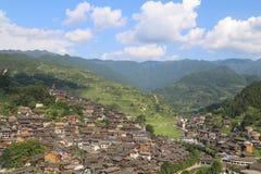 Krajobraz w xijiang miao wiosce, Guizhou, porcelana zdjęcia royalty free