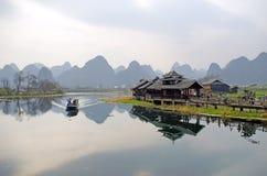 Krajobraz w Yangshuo Guilin, Chiny zdjęcie stock