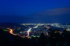 Krajobraz w zmierzchu przy Seisho regionem, Kanagawa, Japonia Zdjęcia Stock
