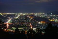 Krajobraz w zmierzchu przy Seisho regionem, Kanagawa, Japonia Zdjęcia Royalty Free