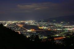 Krajobraz w zmierzchu przy Seisho regionem, Kanagawa, Japonia Zdjęcie Stock
