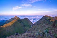 Krajobraz widzieć od Doi Luang Chiang Dao Zdjęcia Royalty Free