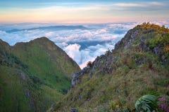Krajobraz widzieć od Doi Luang Chiang Dao Fotografia Stock
