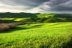 Krajobraz wieś włochy Toskanii Zdjęcia Royalty Free