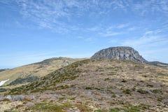 Krajobraz Witse-Oreum i plateau w Hallasan górze Fotografia Royalty Free