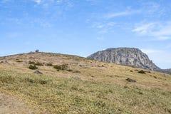 Krajobraz Witse-Oreum i plateau w Hallasan górze Zdjęcia Stock