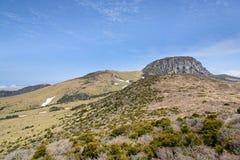 Krajobraz Witse-Oreum i plateau w Hallasan górze Obrazy Stock