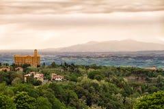 Krajobraz wokoło Volterra, Tuscany, Włochy zdjęcie royalty free