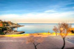 Krajobraz wybrzeże Sardinia, Porto torres, balai plaża zdjęcie royalty free