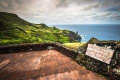 Krajobraz wyspa Flores Azores, Portugalia Fotografia Royalty Free