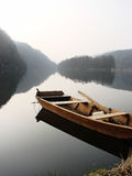 Krajobraz z łodzią Obrazy Stock