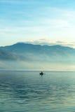 Krajobraz z łodziami i morzem Zdjęcia Stock