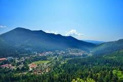 Krajobraz z Baile Tunsad kurortem, Transylvania, Harghita okręg administracyjny, Rumunia Obraz Stock