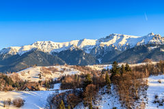 Krajobraz z Bucegi górami, Rumunia Obrazy Royalty Free