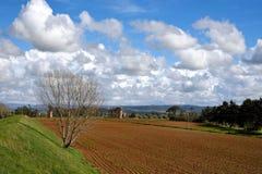 Krajobraz z chmurami Zdjęcia Royalty Free