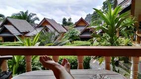 Krajobraz z ciekami w Tajlandia fotografia royalty free