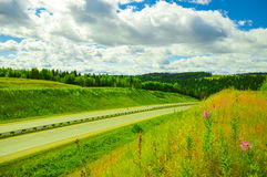 Krajobraz z drogą Obrazy Royalty Free