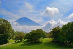 Krajobraz z górą Fuji Zdjęcia Royalty Free