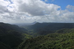 Krajobraz z górą na wyspie Mauritius Obraz Royalty Free