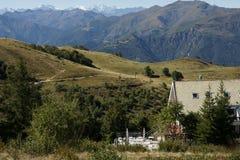 Krajobraz z górami Fotografia Stock