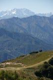 Krajobraz z górami Fotografia Royalty Free
