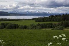 Krajobraz z górami Zdjęcie Stock