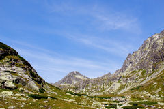 Krajobraz z górami Obrazy Royalty Free