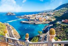 Krajobraz z Garachico, Tenerife zdjęcie stock