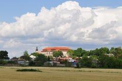 Krajobraz z grodowym Napajedla fotografia royalty free