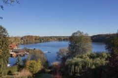 Krajobraz z jeziorem Obraz Stock