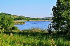 Krajobraz z jeziorem Fotografia Stock