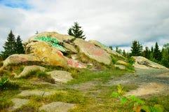 Krajobraz z kamieniami Fotografia Stock