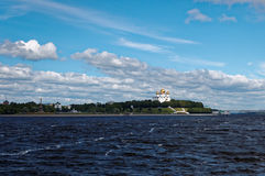 Krajobraz z kościół Fotografia Royalty Free