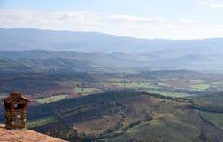 Krajobraz z kominem Fotografia Royalty Free