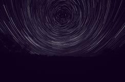 Krajobraz z śladami gwiazdy Obrazy Royalty Free