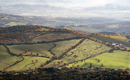 Krajobraz z mgiełką Zdjęcie Royalty Free