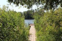Krajobraz z molem Fotografia Royalty Free