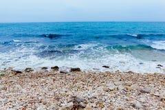 Krajobraz z morzem Obrazy Royalty Free